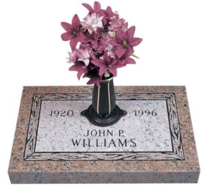 A memorial with honor can range from a cremation urn to a grave marker or other tribute